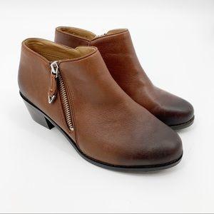 Vionic Jolene Mocha ZIP Ankle Booties 6